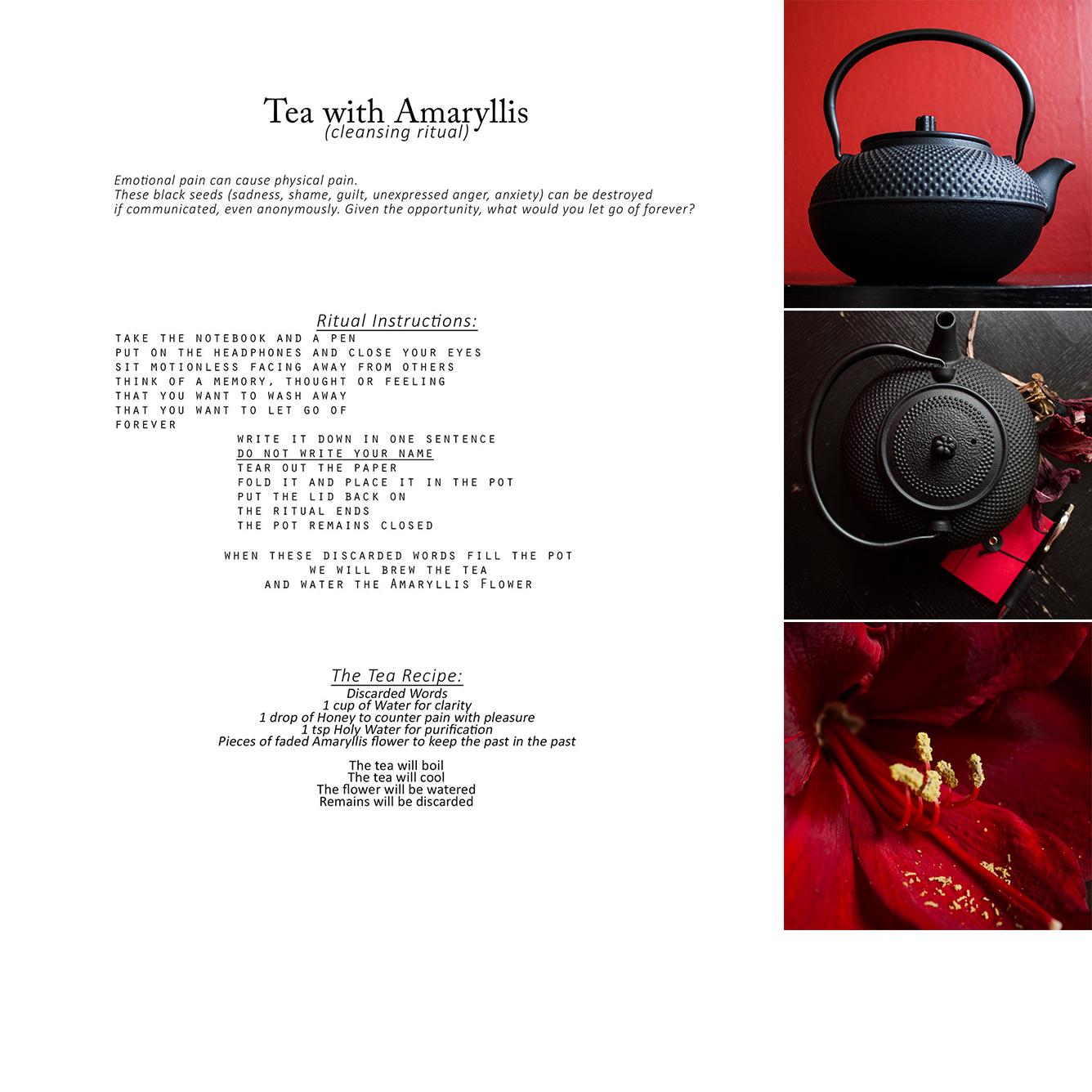 Tea with Amaryllis collage